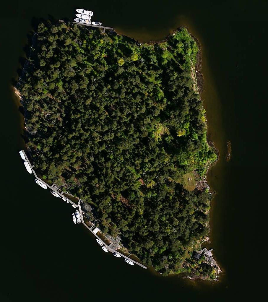 Flygbild över Tallholmen